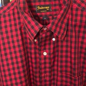 A button up shirt a really good texture